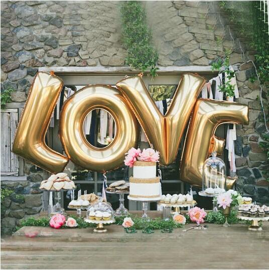Love balloons 40 inch giant jumbo letter balloons for Giant letter balloons