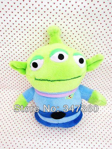 Retail One Piece Pixar Toy Story 3 Sangan Plush Toys 22cm Little Green Alien Plush Toy Dolls Children Gifts(China (Mainland))