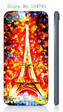 Mobile Phone Case Retail 1pc oil painting Protective White Hard Case Cover For ipod touch 5 5th Free Shipping