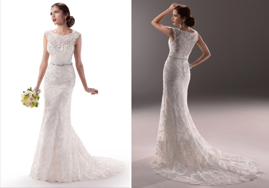 Lace Back Wedding Dresses For Sale Images