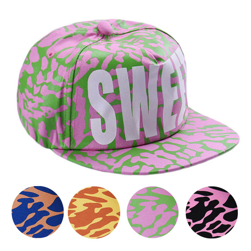 Free shipping Cotton Snapback Hats Fitted Baseball Cap Sweet Fluorescent Hip Hop Caps candy color chapeu feminino TONSEE(China (Mainland))
