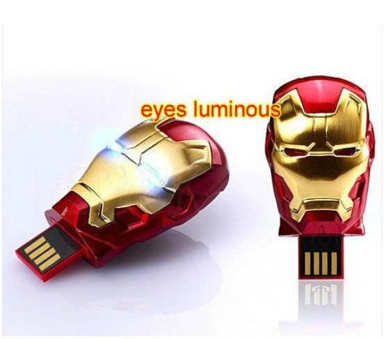 Freeshipping!Genuine MARVEL  3rd Avenger Iron Man 3 (Mark 42) Usb 2.0 Memory flash stick pen thumbdrive 1-32gb