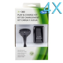 4 X 4800 мАч аккумуляторная батарея для XBOX 360 с кабель