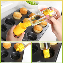Silicone Honey Oil Bottle with Brush for Barbecue Cooking Baking Pancake BBQ Tools Kitchen Accessories barbacoa Storage Bottles(China (Mainland))