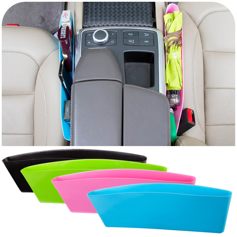 2pcs/lot Car storage bag box Seat Pocket Catch Caddy Catcher Organizer Space Save Store Car Seat PP Stowing Tidying(China (Mainland))