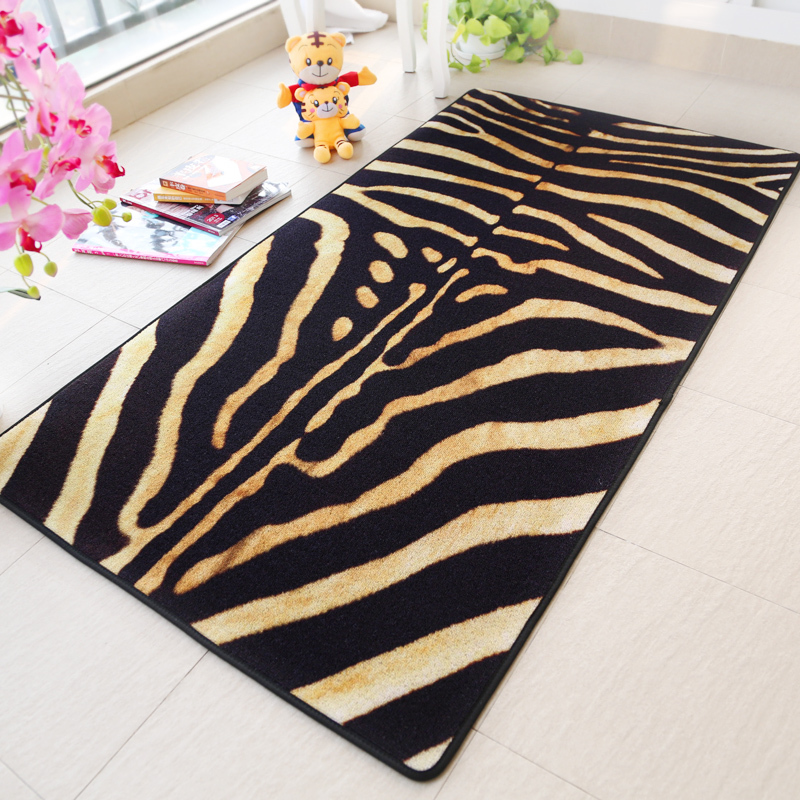 Zebra Tiger Print Rugs And Carpets Kitchen Living Room Rug