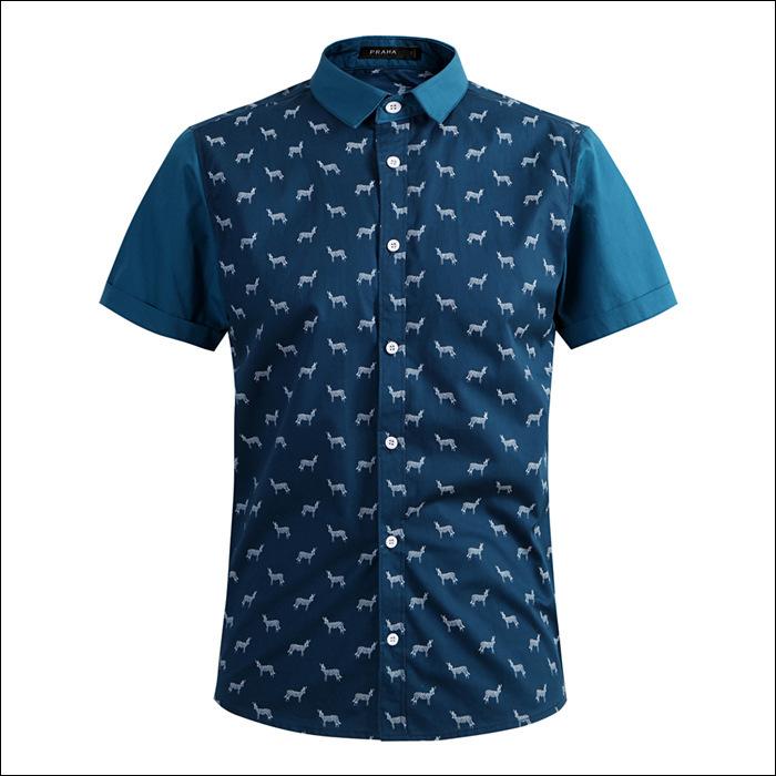 2014 new fashion zebra print mens slim fit stylish dress for Patterned dress shirts for men