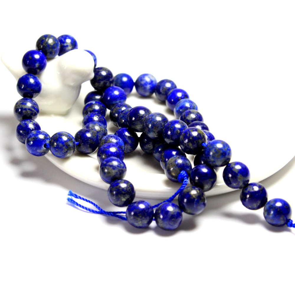 New aaa round natural lapis lazuli stone beads for for How to make rock jewelry