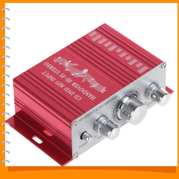 Cheapest!! Handover Hi-Fi 12V Mini Auto Car Amplifier Stereo Audio Amplifier Support CD DVD MP3 Input for Motorcycle Boat Home(China (Mainland))