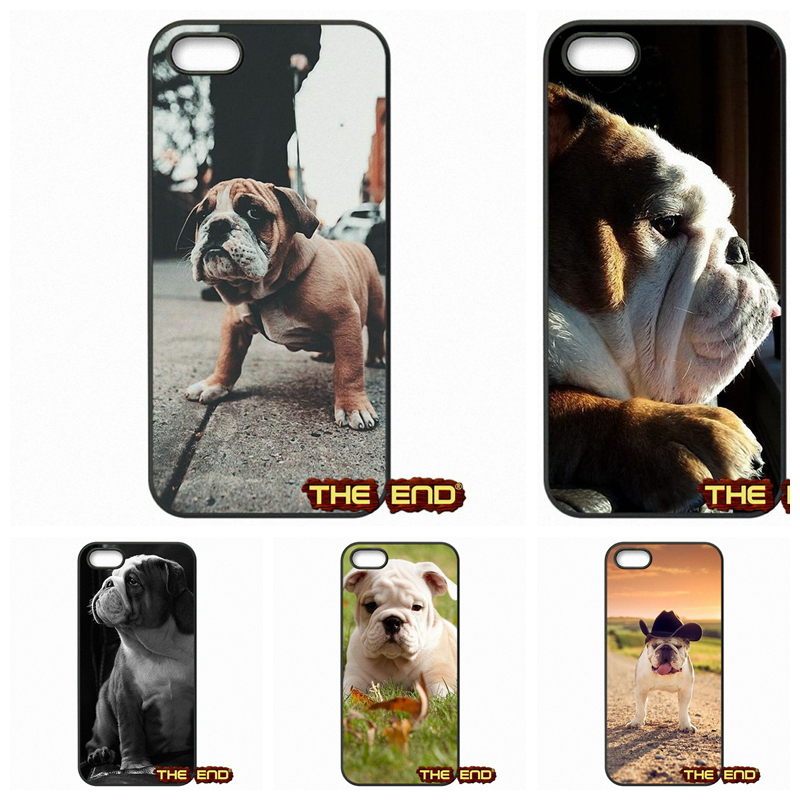For Apple iPhone 4 4S 5 5C SE 6 6S Plus 4.7 5.5 iPod Touch 4 5 6 Polynesian English Bulldog Protective Phone Cover Case(China (Mainland))