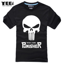 The new 2016 package mail  The Punisher No Sweat Skull Logo Men Adult T-shirt Marvel Comics Seal team shirt large size s-4xl