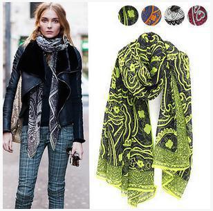 180*90cm, fashion Cashew big Ingot printed lady's scarf cotton voile scarves shawl echarpe beach towel silk Cachecol(China (Mainland))