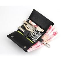Европейский новинка человек свободного покроя кожа 6 ключей кошелек / сплава крюк повесить талии леди кошелек с мешок денег