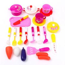 22Pcs/Set Plastic Kids Baby Children Toy Kitchen Utensils Food Cooking Pretend Play Toys(China (Mainland))