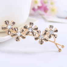 New Arrival Korean Five Plum Flower Rhinestone Shilly Hairpin Hair Clips Barrettes Girls Hair Accessories for Women Headwear(China (Mainland))