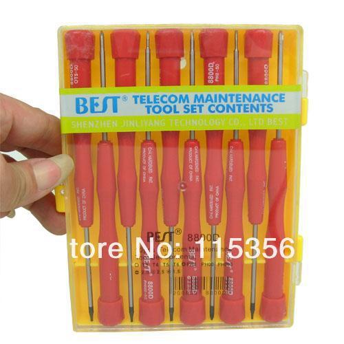 BEST-8800D 10 in 1 Multi-purpose precise Screwdrivers set mobile phone maintenance tools kit T3 T4 T5 T6