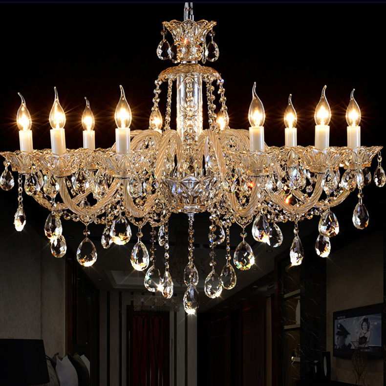 Milk White Modern Crystal Chandelier Roman Antique Crystal