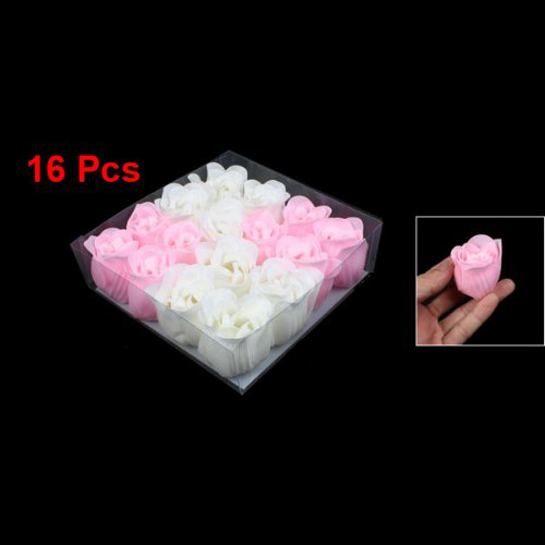 20 Pack Lot 16pcs Pink Valentine Bath Confetti Fragrant Scented Rose Soap Flower Gift(China (Mainland))