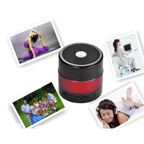 2015  arrival Bluetooth 15M MINI Portable USB Mp3 Music Player Speaker Music LED FM RED  Wholesale<br><br>Aliexpress