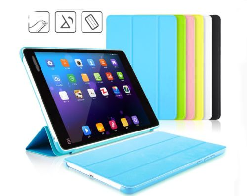 """Ultra thin Leather Stand Smart Auto On/Off Case Cover For Xiaomi mipad 7.9"""" Mi Pad Tablet Cover(China (Mainland))"""