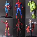 The Avengers 2 Hulk Iron Man Deadpool Captain America Thor Spiderman PVC Action Figure Model Wolverine