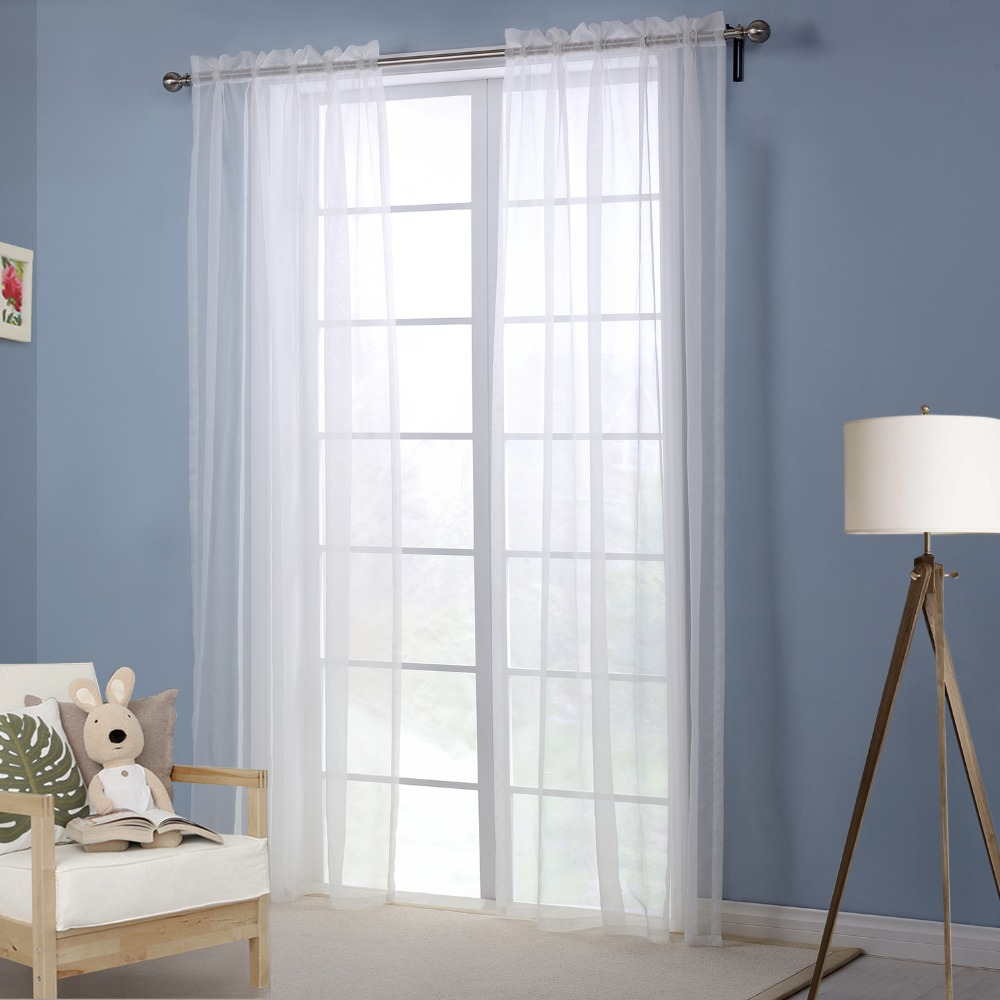 Window Curtain Living Room White Curtains For The Bedroom Solid Modern Curtai