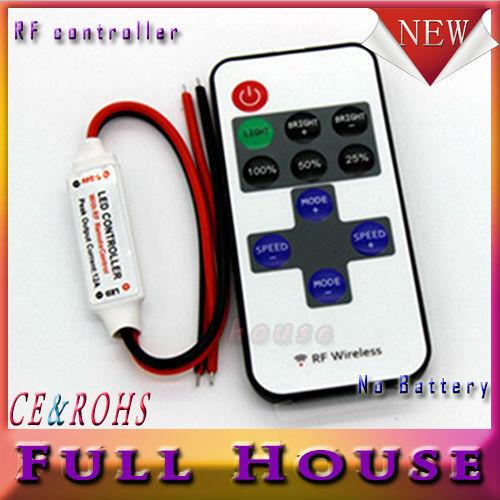 1pcs/lot Single Color Remote Control Dimmer DC 12V 11keys Mini Wireless RF LED Controller for led Strip light SMD 5050 / 3528(China (Mainland))