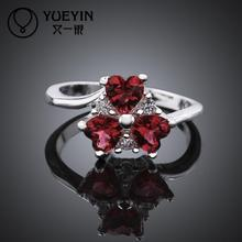 R640 Fine Fashion Ruby Jewelry anillos de plata 925 Sterling Silver Rings For Women Wedding Rings