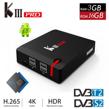 Buy New KIII Pro TV Box Android 6.0 DVB-T2 DVB-S2 Amlogic S912 Octa core 2.4G/5G WiFi 4K Smart TV Media Player Miracast Set-top Box for $141.55 in AliExpress store