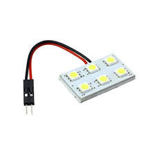Vehicle Car-styling 6 SMD LED T10 BA9S Dome Festoon Car Interior Light Panel Lamp 12V Car Accessories