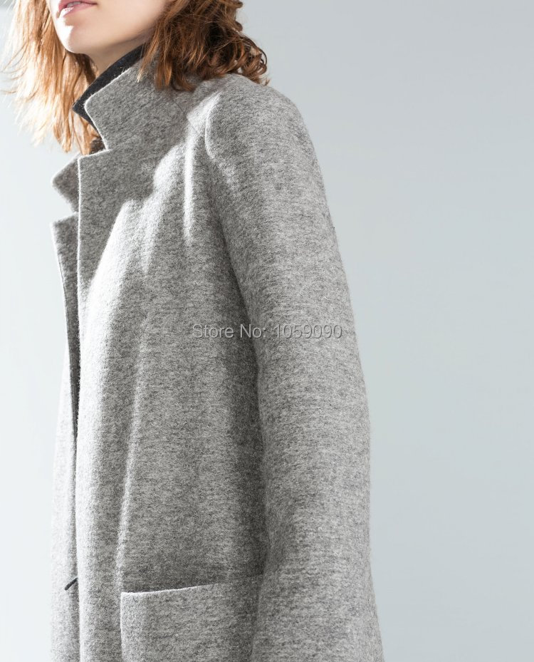 Womens Grey Wool Coat - Coat Nj