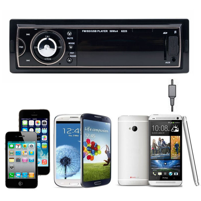 New Car Audio Stereo In Dash Fm With Mp3 Player USB SD Input AUX Receiver Jecksion(China (Mainland))