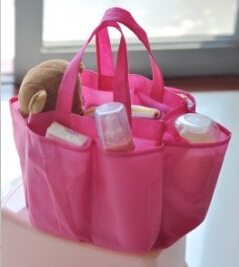 free shipping 1 pc baby care nappy changings non-woven fabric nappy bags portable mumy bag inner container solid pink blue bag(China (Mainland))