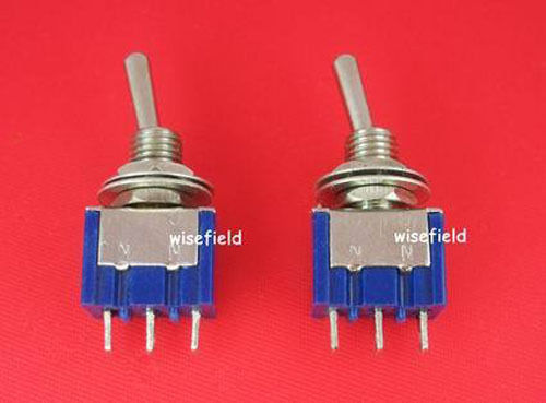 Lot 2 x New Mini SPDT Toggle ON/OFF OFF/ON Piano Switch(China (Mainland))