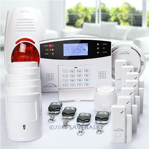 HOMSECUR Wireless & Wired GSM SMS Home Security Alarm System +6 Pet Friendly PIR(China (Mainland))