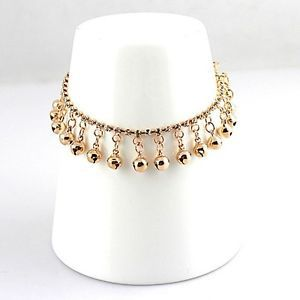 New Arrival Ankle Crystal Rhinestone Jewelry Chain Anklet Bracelet with Small Bells 2015 Free Shipping(China (Mainland))