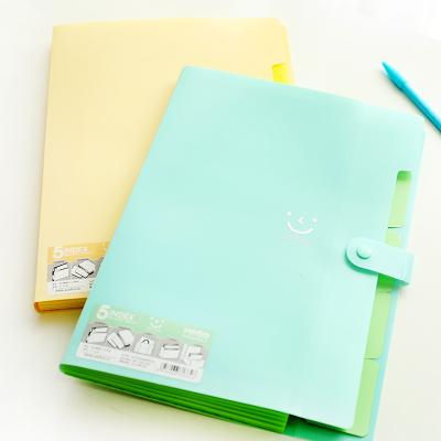 2pcs/Lot Korean Smiley Cute Paper File Folder Clear Color Plastic Document Bag A4 Office File Folders Organizer(China (Mainland))