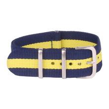 Rayas reloj Popular 16 mm ejército marina militar de la otan de tela tejida de Nylon correa de reloj de correa banda hebilla de cinturón de 16 mm accesorios