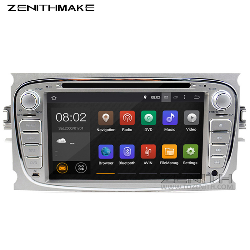 Free Shipping Android HD Two Din 7Inch Car DVD For FORD FOCUS 2 MONDEO S-MAX android car dvd car gps radio With Wifi google play(Hong Kong)