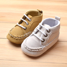 baby sneakers lace up sapato infantil gentleman baby loafers moccasin white/ brown sapatos baby(China (Mainland))