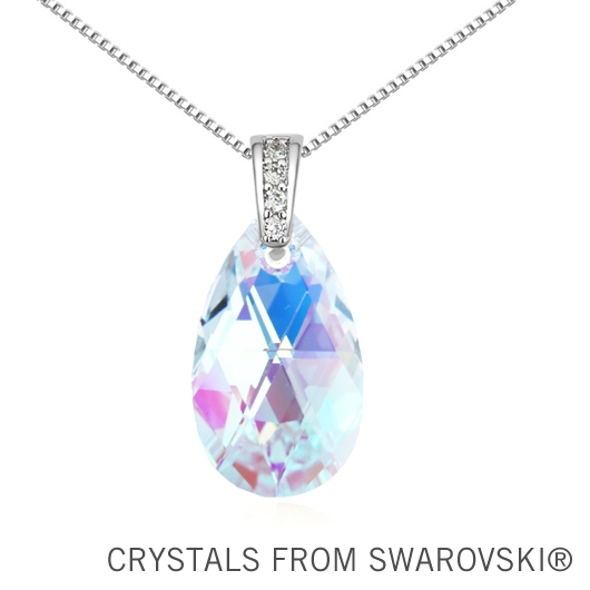 100% Original SWAROVSKI ELEMENTS 6 colors crystal drop pendant necklace for 2015 Mother's Day gift(China (Mainland))