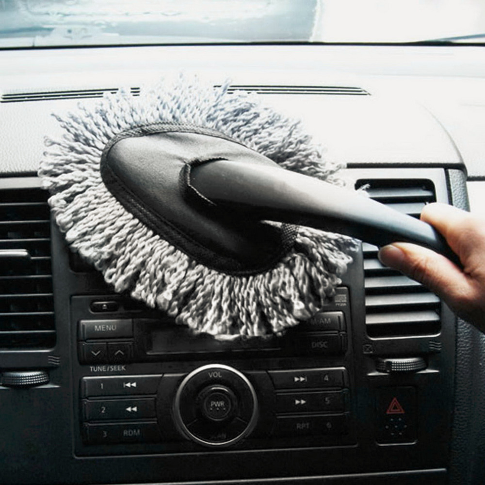 1PC Multi-functional Car Duster Cleaning Dirt Dust Clean Brush Dusting Tool Mop Gray Brush(China (Mainland))