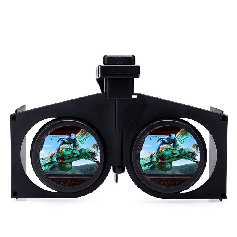VR Fold V1 Portable Foldable Ultralight 3D VR Virtual Reality Google Movie Games Glasses Plastic Cardboard for Android iOS PC(China (Mainland))