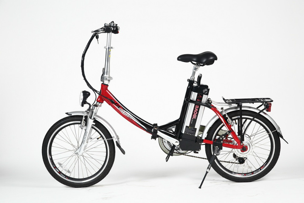 20 inch electric folding bicycle with 250w brushless hub motor