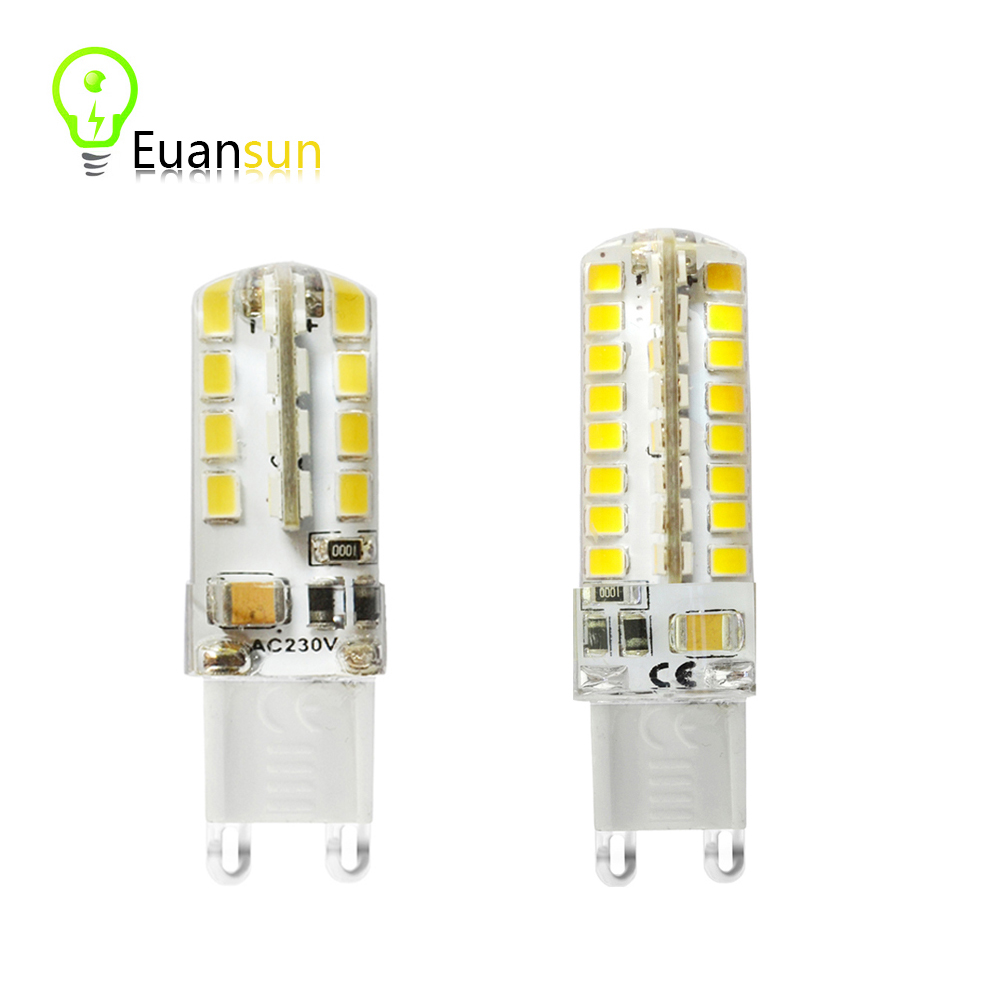 G9 led corn lamp AC220V 5w 9w 2835LED Crystal Silicone Candle Replace 20-40W halogen lamps Christmas light bulb free Shipping(China (Mainland))