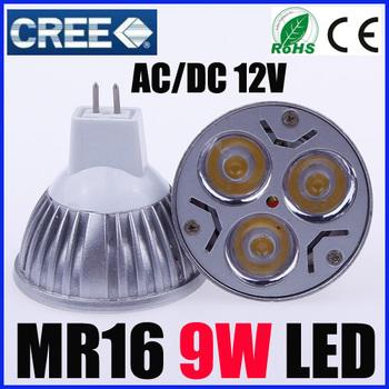 10X MR16 led 12V 9W Bulb Led Light Led Lamp Led Downlight CE/RoHS High Power Energy Saving,Free Shipping