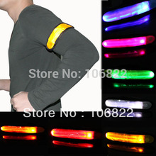 Hot New LED Armband Safety Reflective Flexible Visible Colors Hiking Running Jogging Biking Free Shipping SL00260