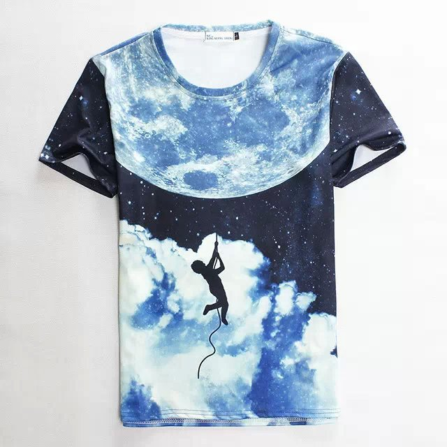 Hot Fancy 2016 New Unisex 3D T-shirt women Harajuku mask print summer T shirts men tricka camiseta tricouri Wholesale(China (Mainland))