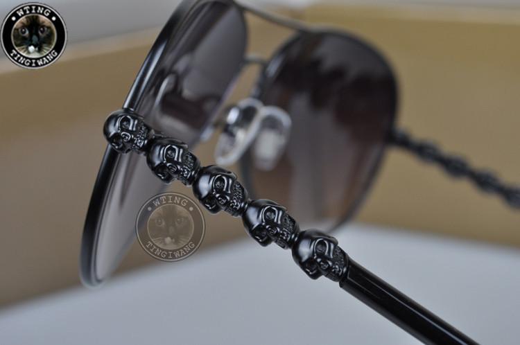 2015 New Arrivals Men Loved Fashion Eyeglasses brand Sunglasses skull Sun glasses 2 Color to Choose UV400 Eyewear(China (Mainland))