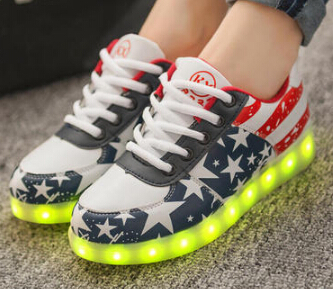 Size 35-44 Men Women Sneakers Luminous USB Charging Colorful LED lights Sneakers Casual Flat Shoes Zapatos Hombre Mujer 7Colors(China (Mainland))